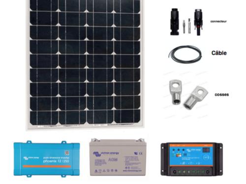 kit solaire autonome complet 55w-12V