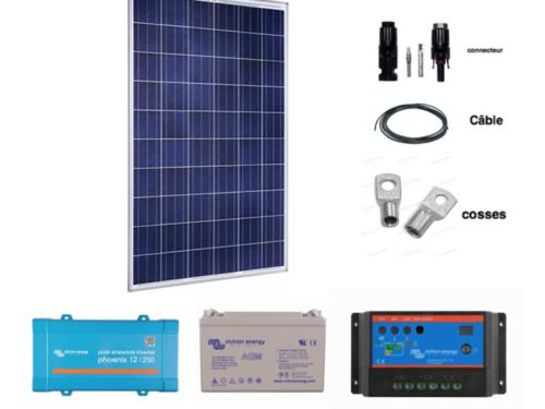 kit solaire autonome complet 90W 12v