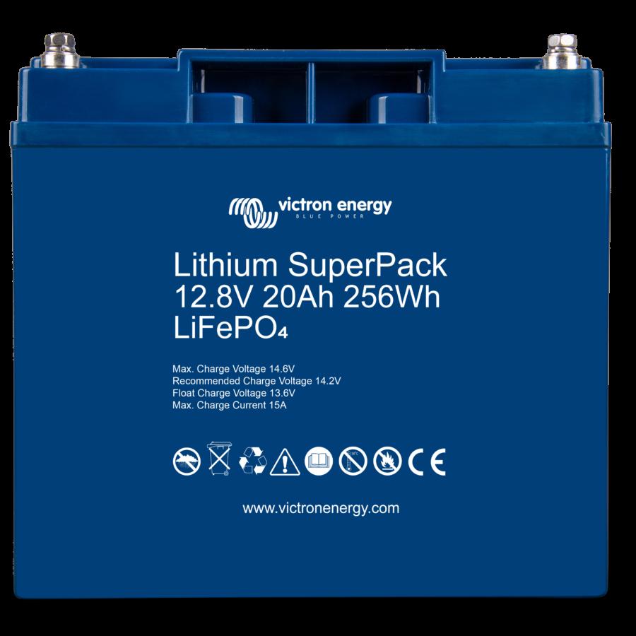 Batterie solaire lithium 20Ah-12,8V-BMS-intégré