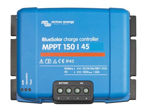 Régulateur solaire MPPT 150/45 BlueSolar Victron Energy.