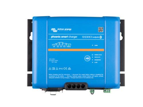 Chargeur de batterie IP43 12V/30A-3 sortie phoenix smart victron energy